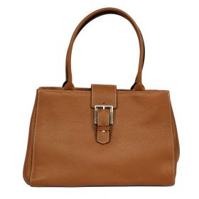 Brandy Tan Leather Handbag