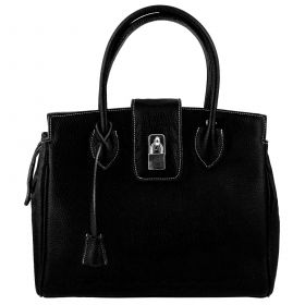 Chelsea Black Leather Handbag