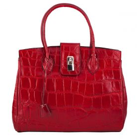Chelsea Red Croco Leather Bag