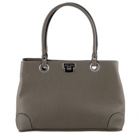 City Grey Leather Handbag