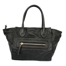 Roxanna Black Leather Bag