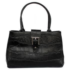 Sophie Leather Bag Black Croco