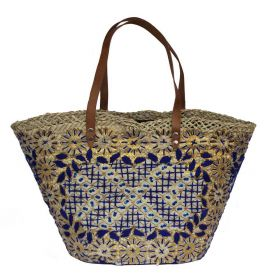 French Basket Dark Blue