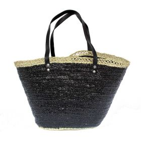 French Basket Sequins Black