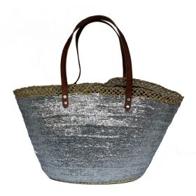 French Basket Sequins Silver