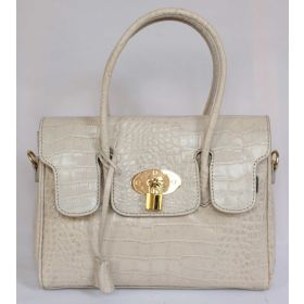 Emily M Grey Croco Leather Handbag
