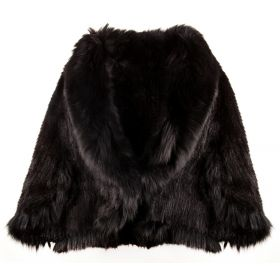Mink Cape Black