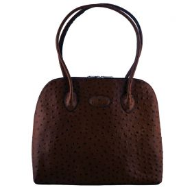 Paris Brown Ostrich Bag