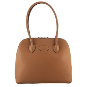 Paris Tan Leather Handbag