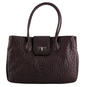 Rachael Brown Ostrich Leather Handbag