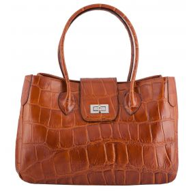 Rachael Tan Croco Leather Handbag