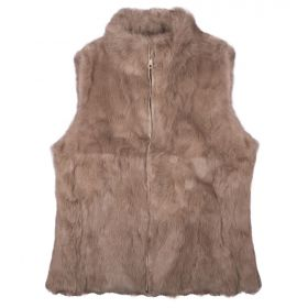 Sienna Dark Tan Gilet Fur