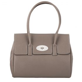 Tara Grey Leather Handbag