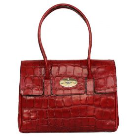 Tara Red Croco Leather Bag