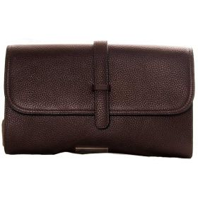 V Clutch Brown Bag