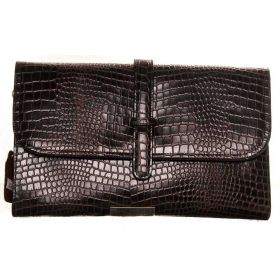 V Clutch Brown Croco Bag