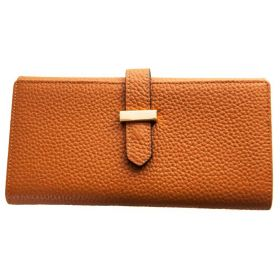 V Wallet Leather Tan