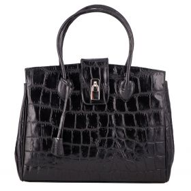 Chelsea Black Croco Bag