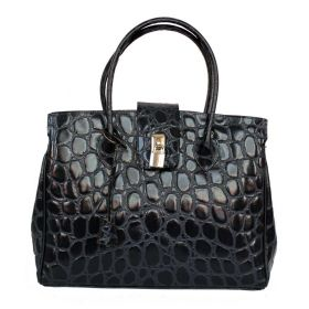 Chelsea Dark Blue Croco Bag