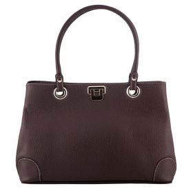 City Brown Bag Leather