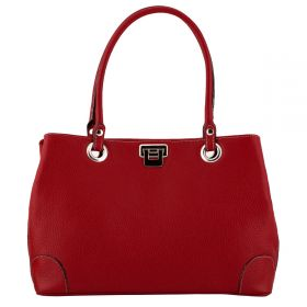 City Red Leather bags