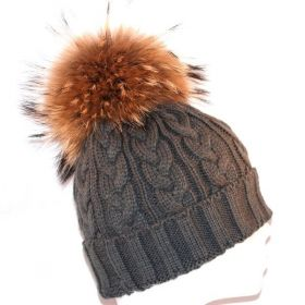 Fur Hat Dark Grey