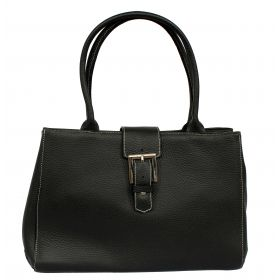 Sophie Black Leather Handbag