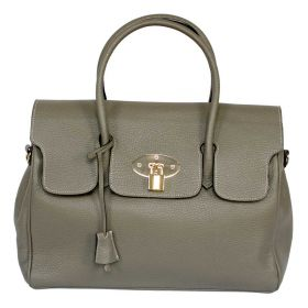 Emily Grey Leather Handbag