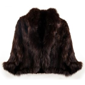 Mink Cape Brown