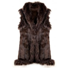 Mink Gilet Brown Long