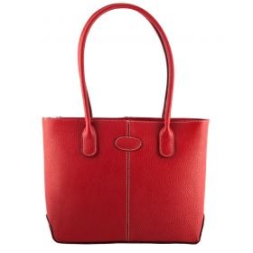 Molly Red Tote Hand Held Bag