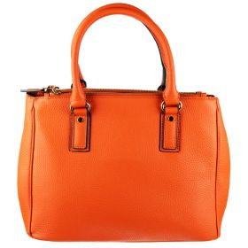 Pamela Orange Leather Bag