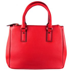 Pamela Red Leather Handbag