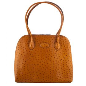 Paris Tan Ostrich Handbag