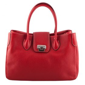 Rachael Red Leather Handbag