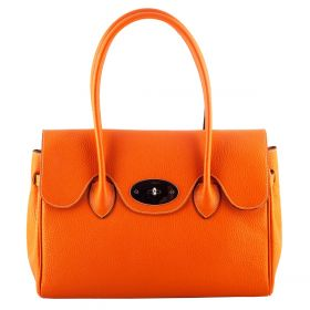 Roxy Orange Leather Handbag
