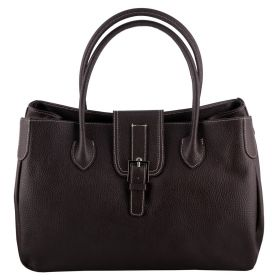 Santa Brown Leather Handbag