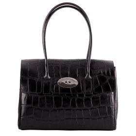 Tara Black Croco Bag