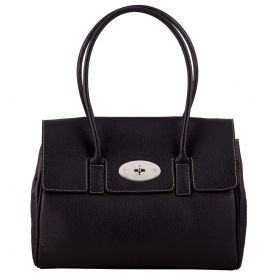 Tara Black Leather Handbag