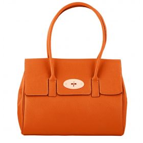 Tara Orange Leather Handbag