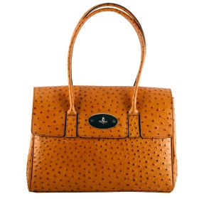 Tara Tan Ostrich Leather Bag