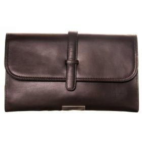 V Clutch Brown Soft Lether