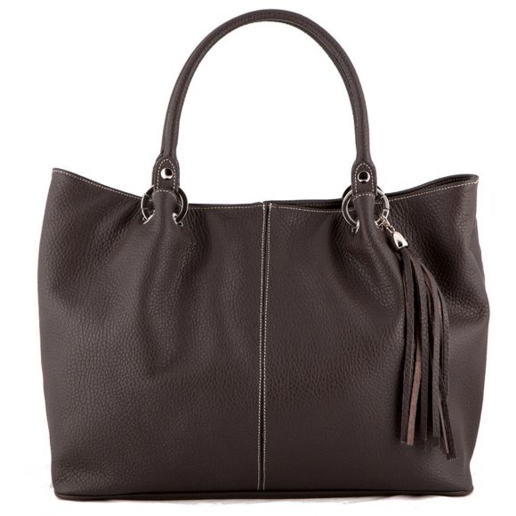 Amber Brown Leather Handbag