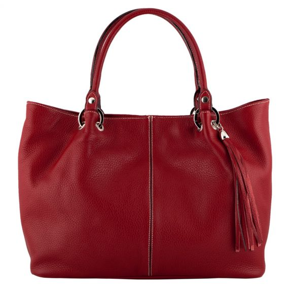 Amber Red Leather Handbag
